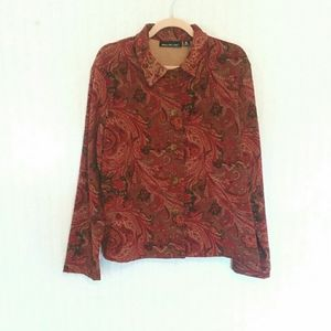 Briggs New York Paisley Button Up Thick Autumnal